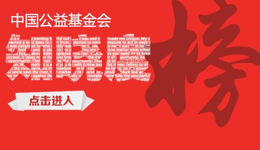 中国公益基金会-知晓度榜